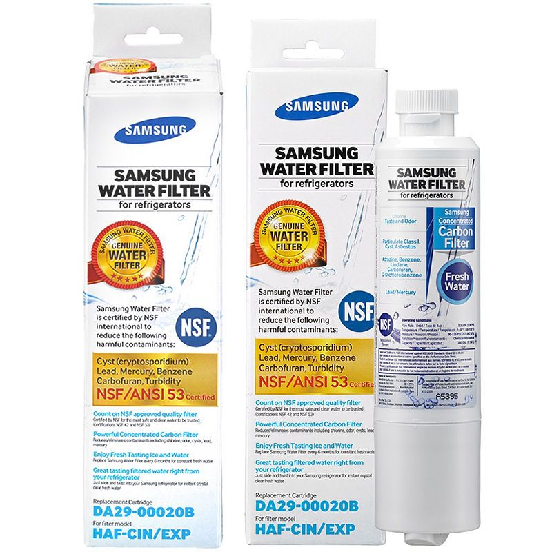 Samsung DA29-00020B-2P Genuine Refrigerator Water Filter 2 Pack