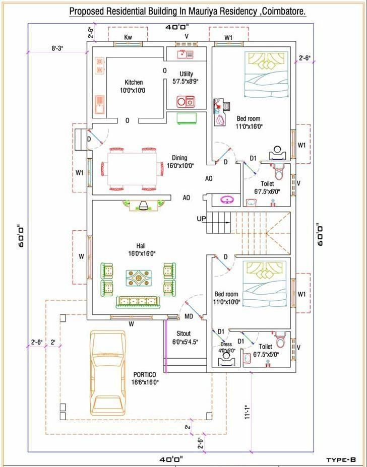 Tamilnadu house plans north facing for Single floor house designs tamilnadu