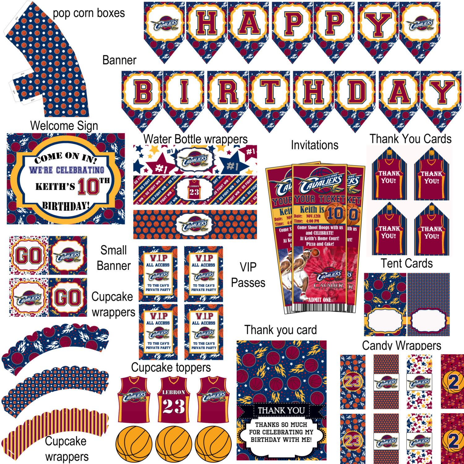 photo regarding Cavs Printable Schedule known as Cleveland Cavaliers basketball birthday bash by way of