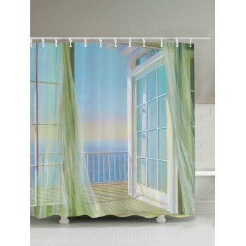 Bath Decor Balcony Seascape Print Shower Curtain With Images