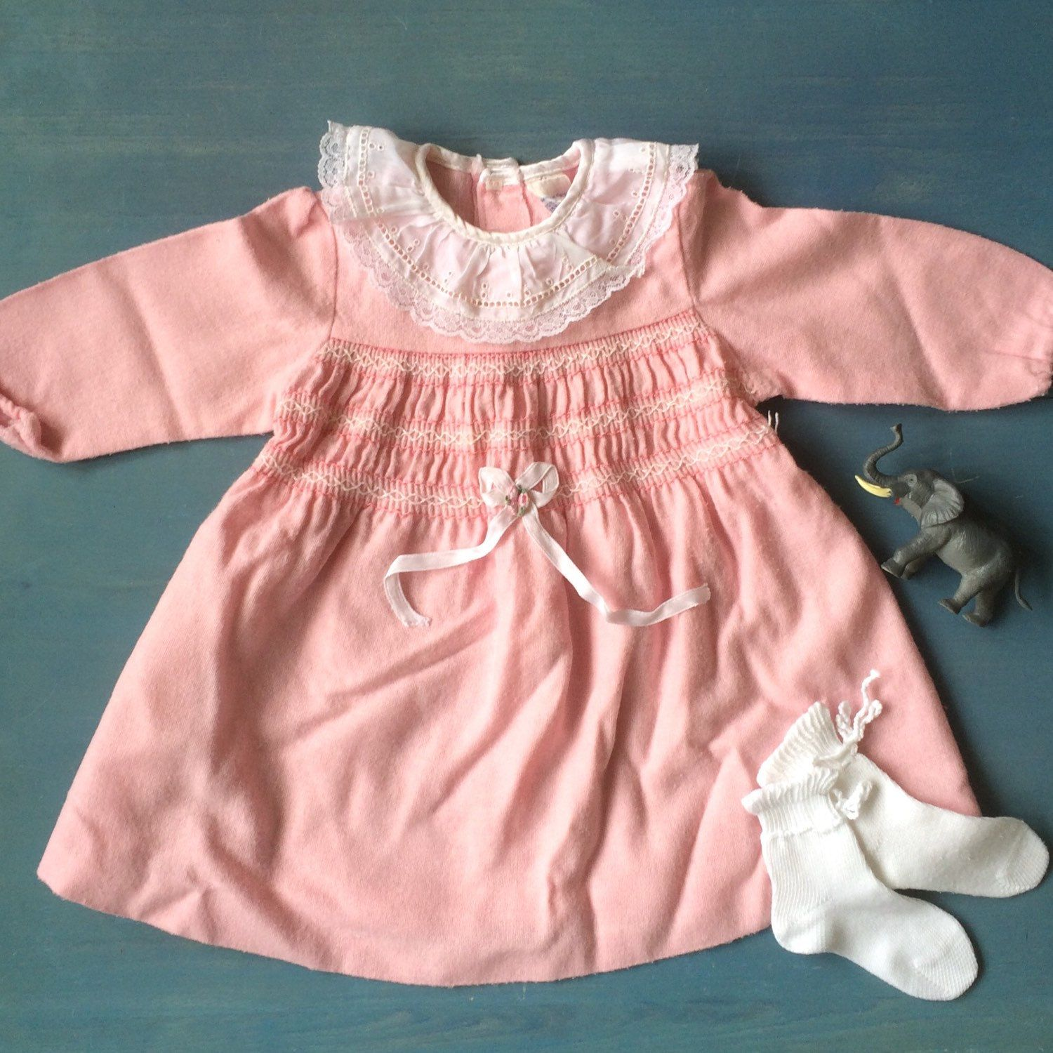 Little lady outfit French vintage baby girl dress and Danish vintage