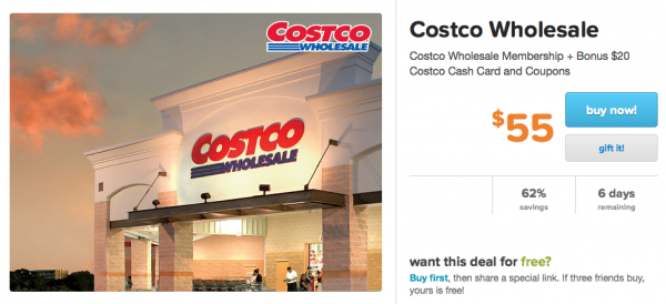 A fantastic way to shop at Costco, without dropping $60 on an annual membership, is to have a friend or family member, who is a Costco member, buy you a Costco cash card in the warehouse or online. You can buy a card with a value up to $1, so be sure to get an amount that won't require a .
