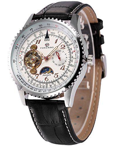 AMPM24 Herren Armbanduhr Automatik Mechanisch Sportuhr mit Armband aus Leder PMW387 - http://herrentaschenkaufen.de/ampm24/ampm24-herren-armbanduhr-automatik-mechanisch