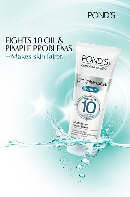 Beat The Heat And Look Gorgeous With Pond S Pimple Clear White Face Wash Powerof10 Facial Wash Face Wash Pimples