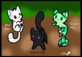 Minecraft mobs in cats...... EPIC!!!! Love the enderman!!!!!