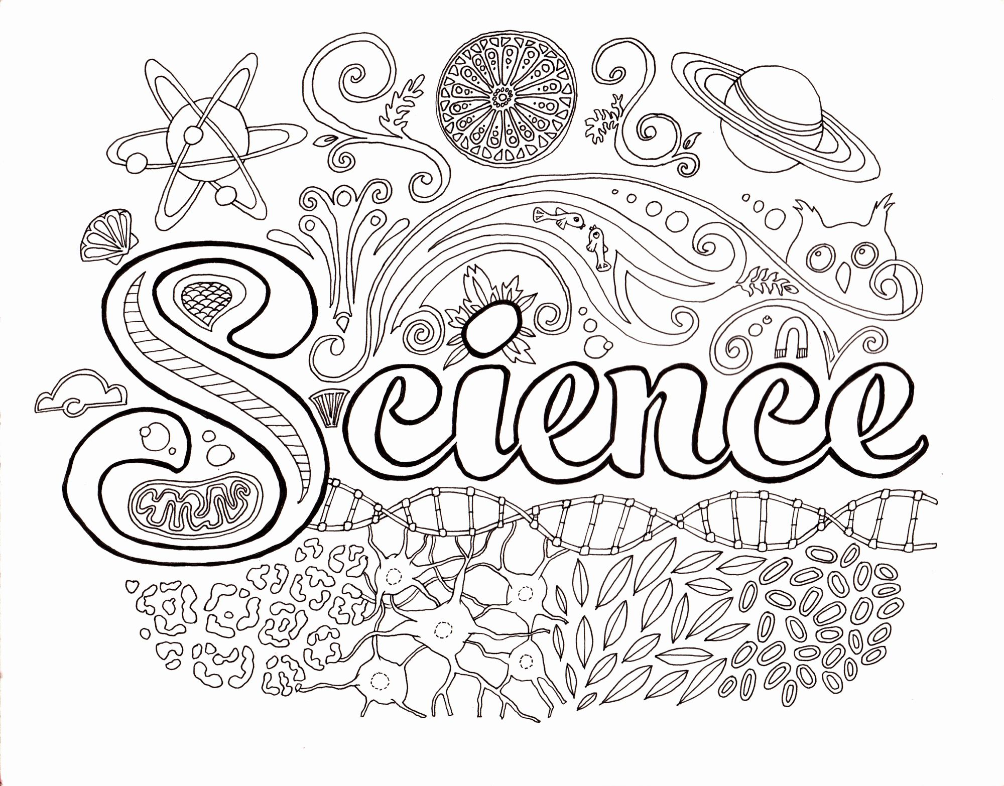 Adult Coloring Books Science In