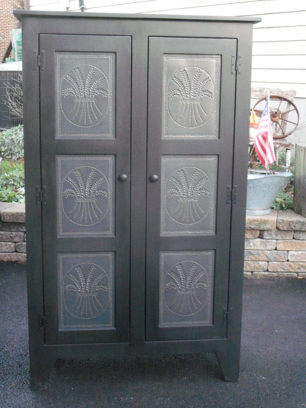 Awesome Tin How To Punch Tin The Punched Tin Panels, Black Iron Hinges And Simple  Casework Make This Little Pine Cabinet A Country Gem Youu0027ll Want To Put In  A ...