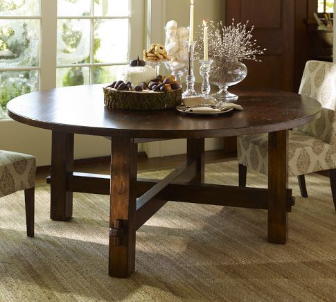 Round Table Pottery Barn Round Outdoor Dining Table Round