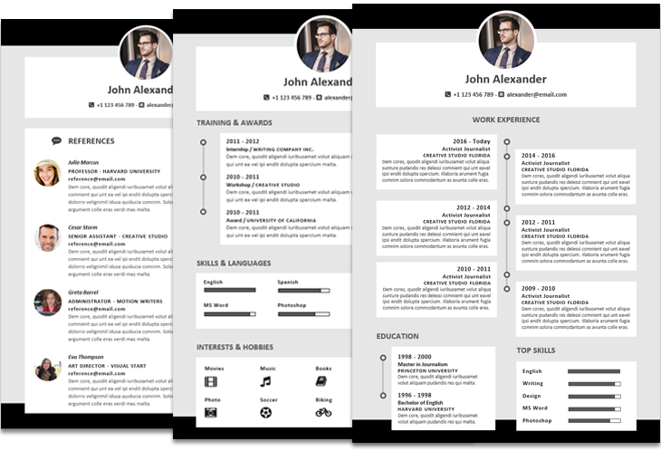 John Alexander Resume Template Timeline Instant Download File Format Microsoft Word Docx Layout Resume Template Resume Design Template Resume Templates