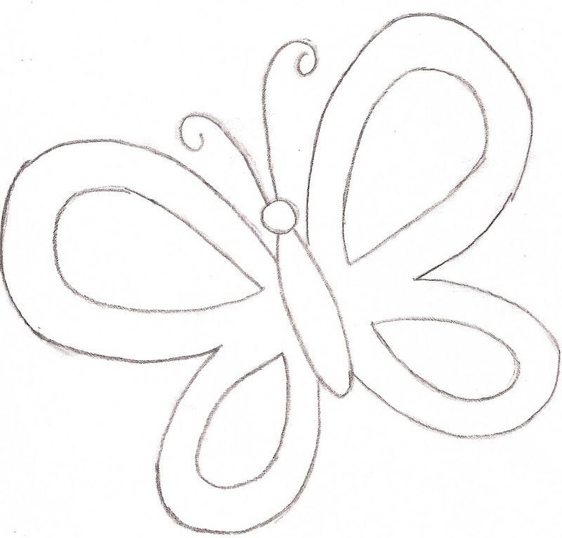 Butterfly Coloring Page - Template \u2026 Pinteres\u2026