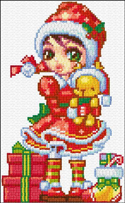 Cross Stitch | Christmas Card xstitch Chart | Design