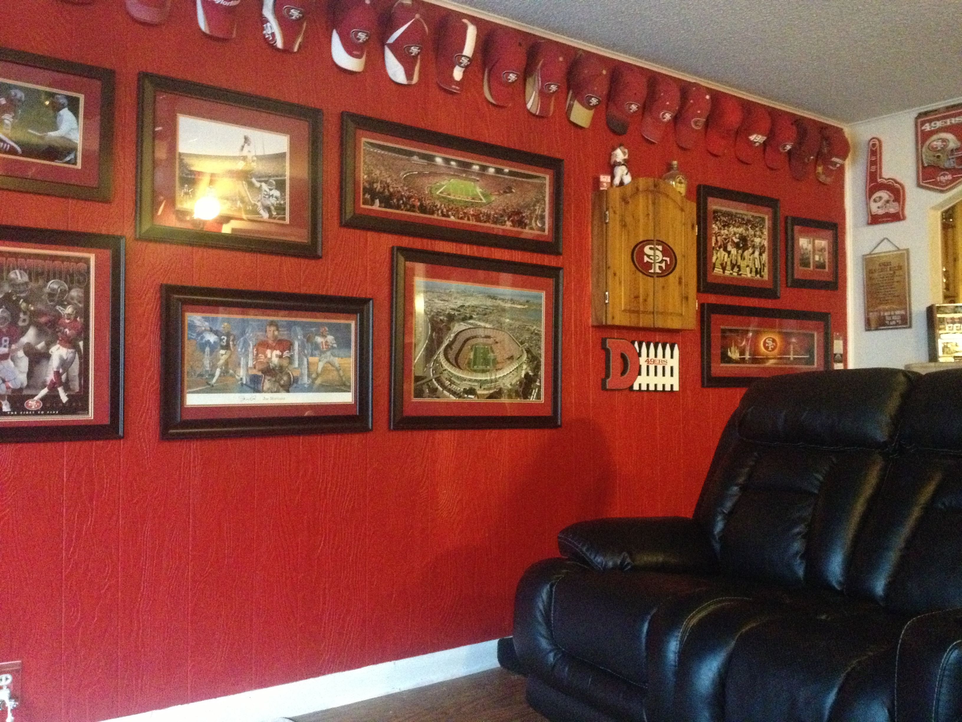 49ers room san francisco 49ers rooms wo man caves for 49ers room decor