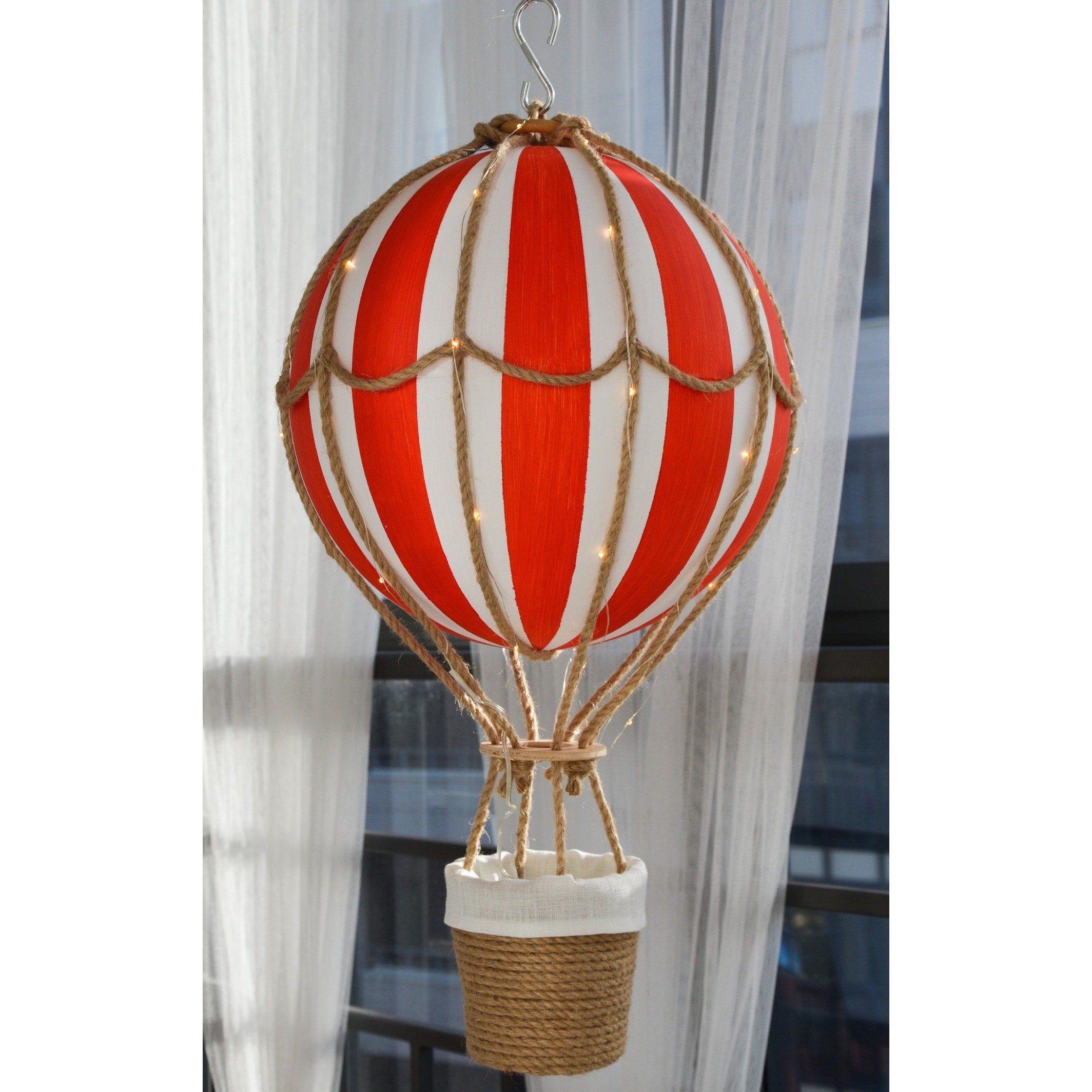 Hot Air Balloon Big Night Light Travel Nursery Decor