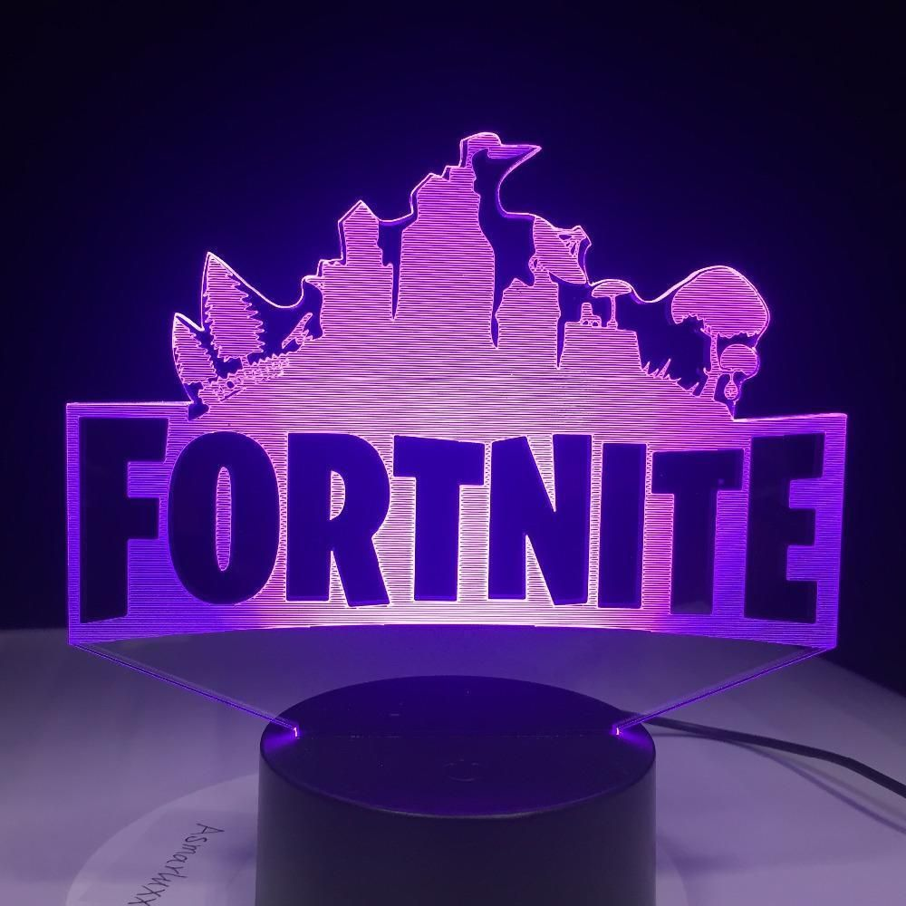 Fortnite 3d 7 Color Changing Night Light Lamp Mood Lamps Night Light Kids Night Light Lamp