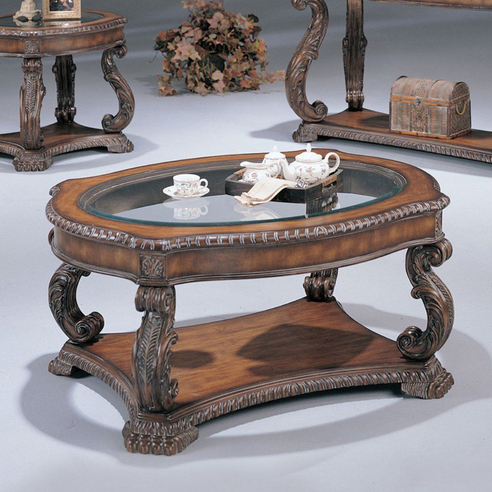Coaster Furniture Oval Glass Top Coffee Table Want Added Details Click The Picture This Is An Affil Antique Coffee Tables Coaster Furniture Coffee Table