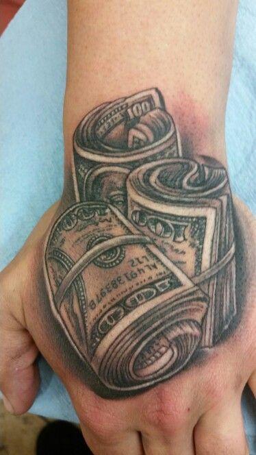 Cash on hand tattoo by Steve\'O, tattoos sacramento @ River City ...