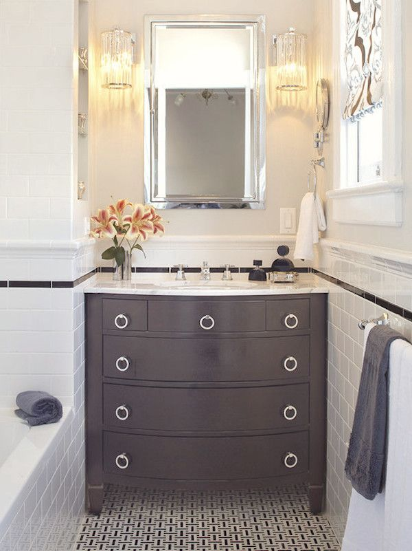 Merveilleux Loving This #bathroom #vanity With A Dresser Style Look! Itu0027s Different And  Brings A Unique Feel To The #room.