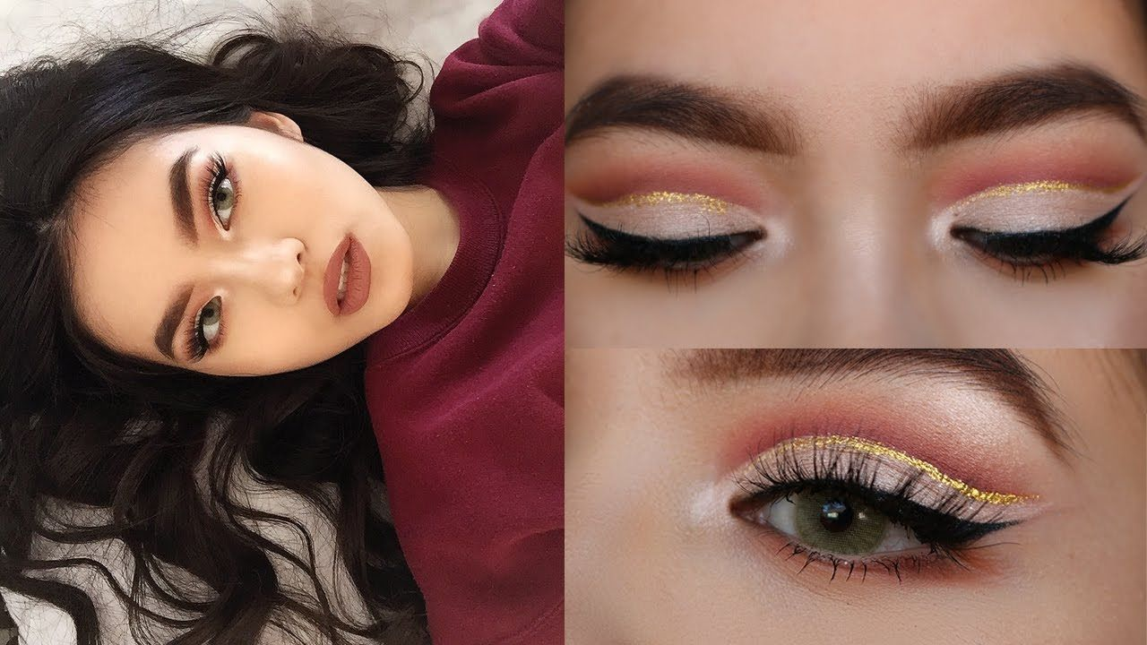 13d3d6f0e2d (CHIT CHAT) GRWM  GLITTER CUT CREASE (ASIAN HOODED EYES)    NYE GLAM -  YouTube