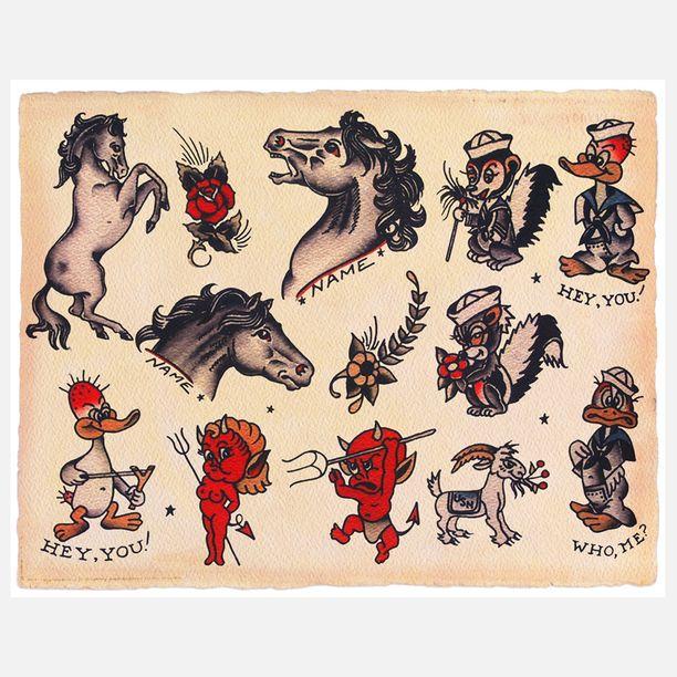 Horses Devils Print Tattoos Pinterest Tattoos Tattoo