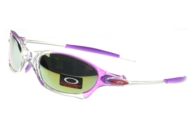 Oakley Juliet Sunglasses Purple Frame Silver Lens