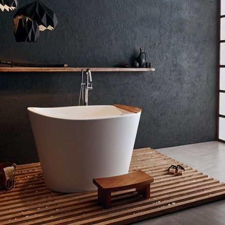 True Ofuro™ Tranquility Heated Japanese deep soaker tub by ...