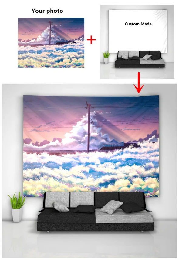 Stone Wall Tapestry Art Wall Hanging Sofa Table Bed Cover Home Decor