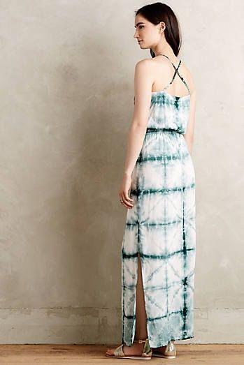 Shibori Sea Maxi Dress