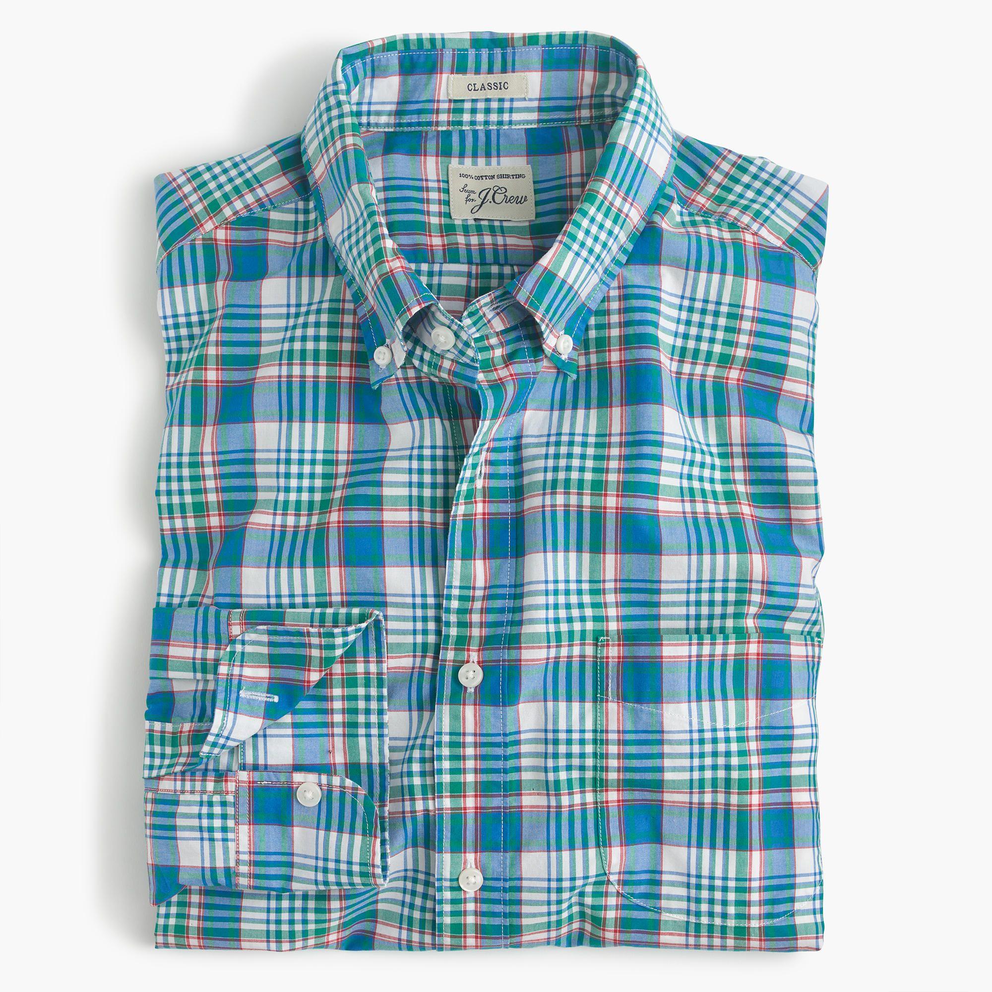 fd06520e J.Crew - Secret Wash shirt in light blue plaid | Men's Fashion