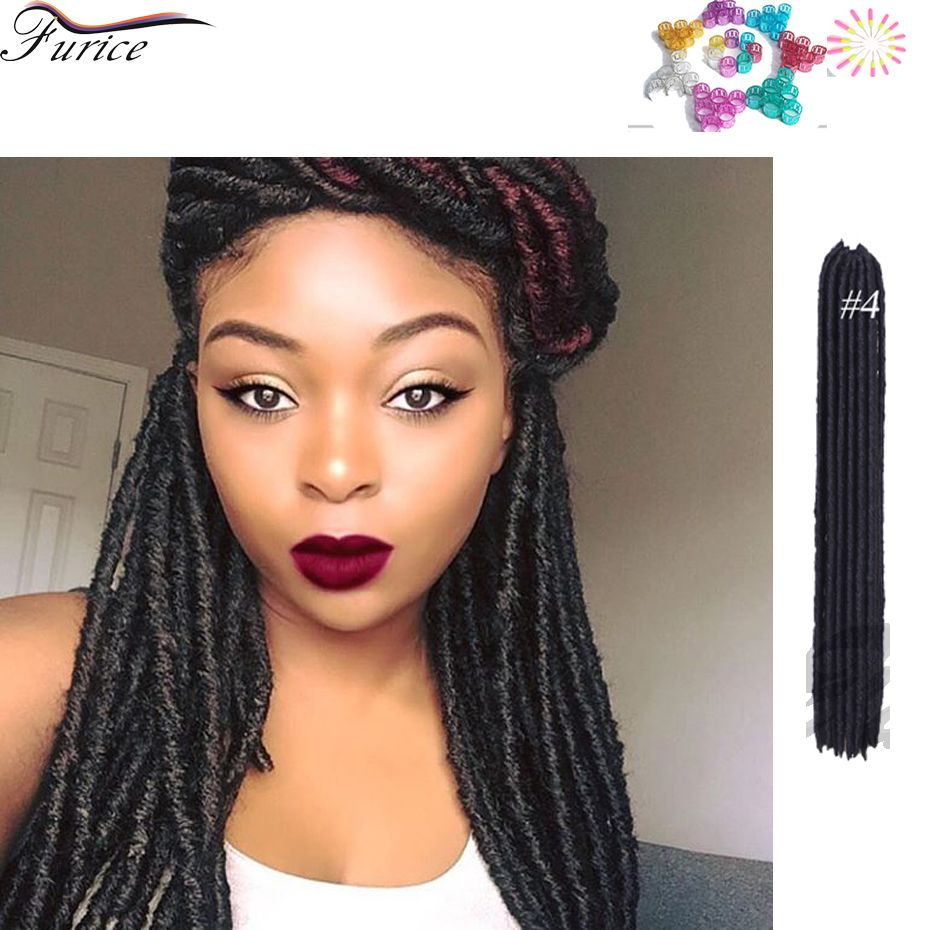 Expression Hair Braids Hair Extensions Synthetic Faux Locs Blonde