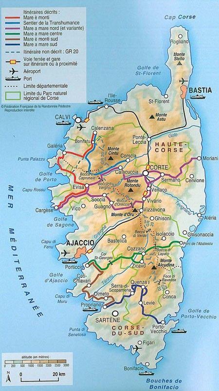 Corse Entre Mer Et Montagne Les Sentiers De Randonnee En Corse