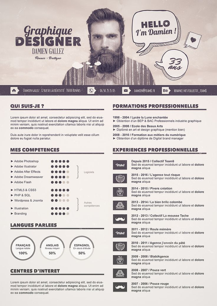 Tuto Special Graphiste Photoshop Graphic Design Resume Graphic Resume Infographic Resume