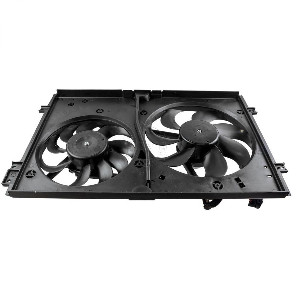 Details About Dual Radiator Cooling Fans Motors New For Audi Vw