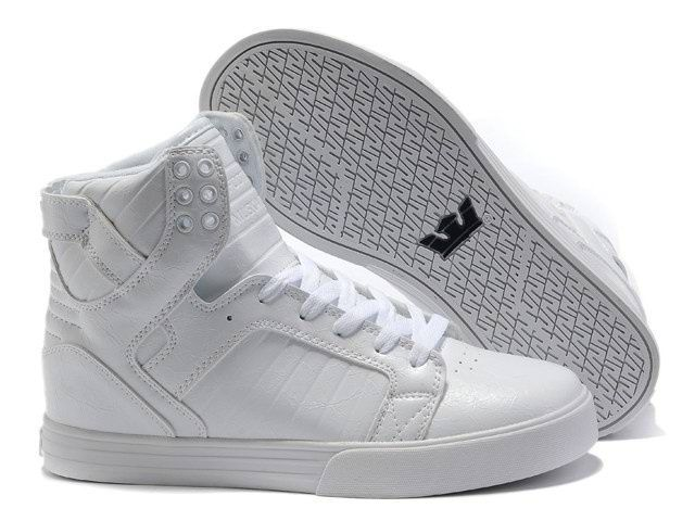 $65 Pure white, Supra Chad Muska Skytop WoMens High Top All White Boots