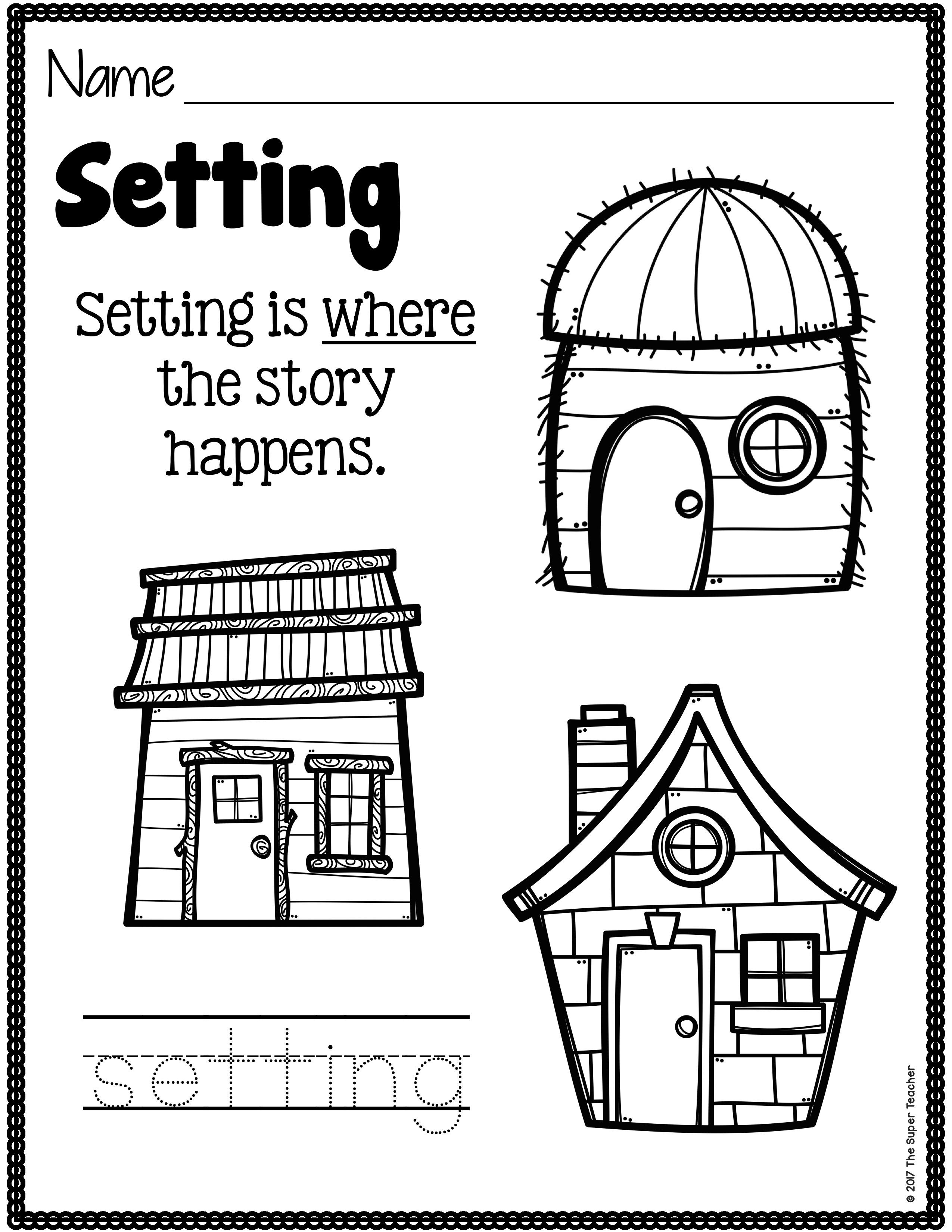 Simple Story Elements Made Practical And Fun Story Elements Kindergarten Kindergarten Writing Little Pigs