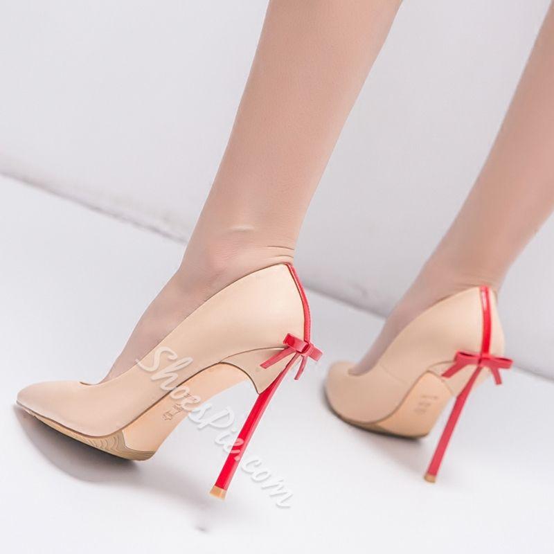 9385881c83a Shoespie Elegant Solid Bowtie Stiletto Heels