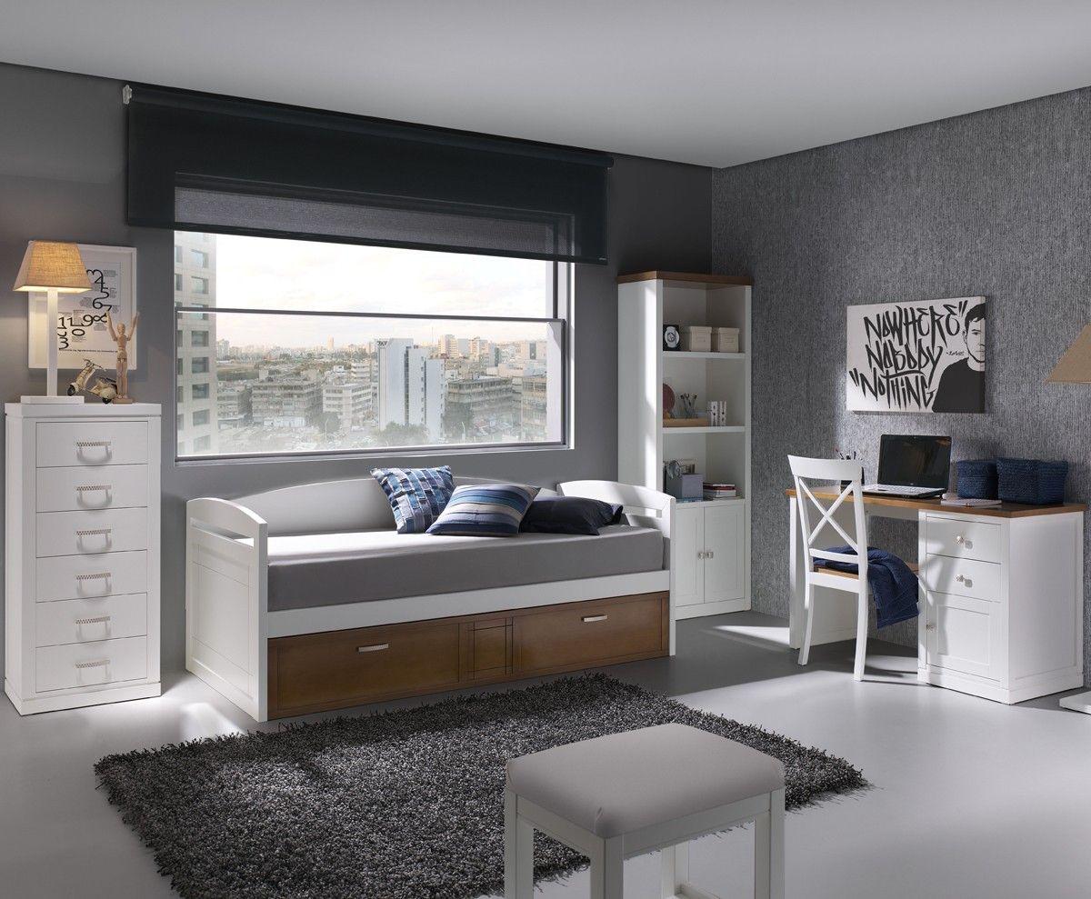 Dormitorio juvenil en mobiliario qboss for Muebles para dormitorios