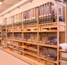 Vente en vrac magasins bio distributeur vrac agencement for Vente bois flotte vrac