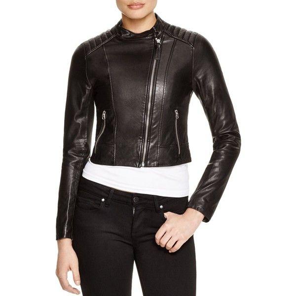 Mackage Misha Cropped Washed Leather Jacket Washed Leather Jacket Leather Jackets Women Mackage Jacket