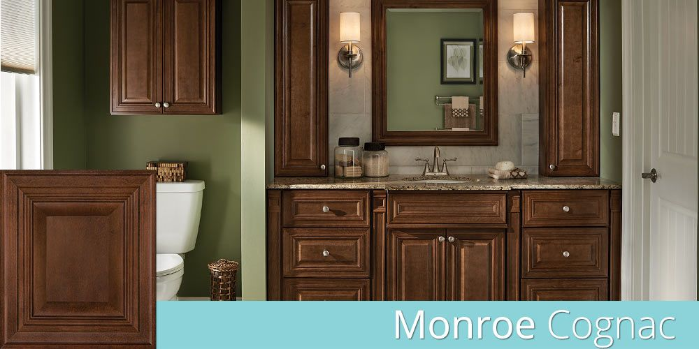 Monroe Cognac Bathroom Cabinets House Plans Interior