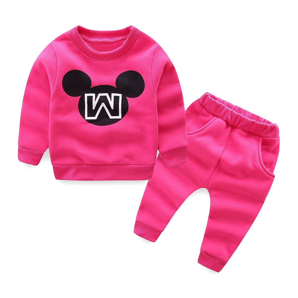 Mud kingdom little girls letters fleece sweater and pants outfits t