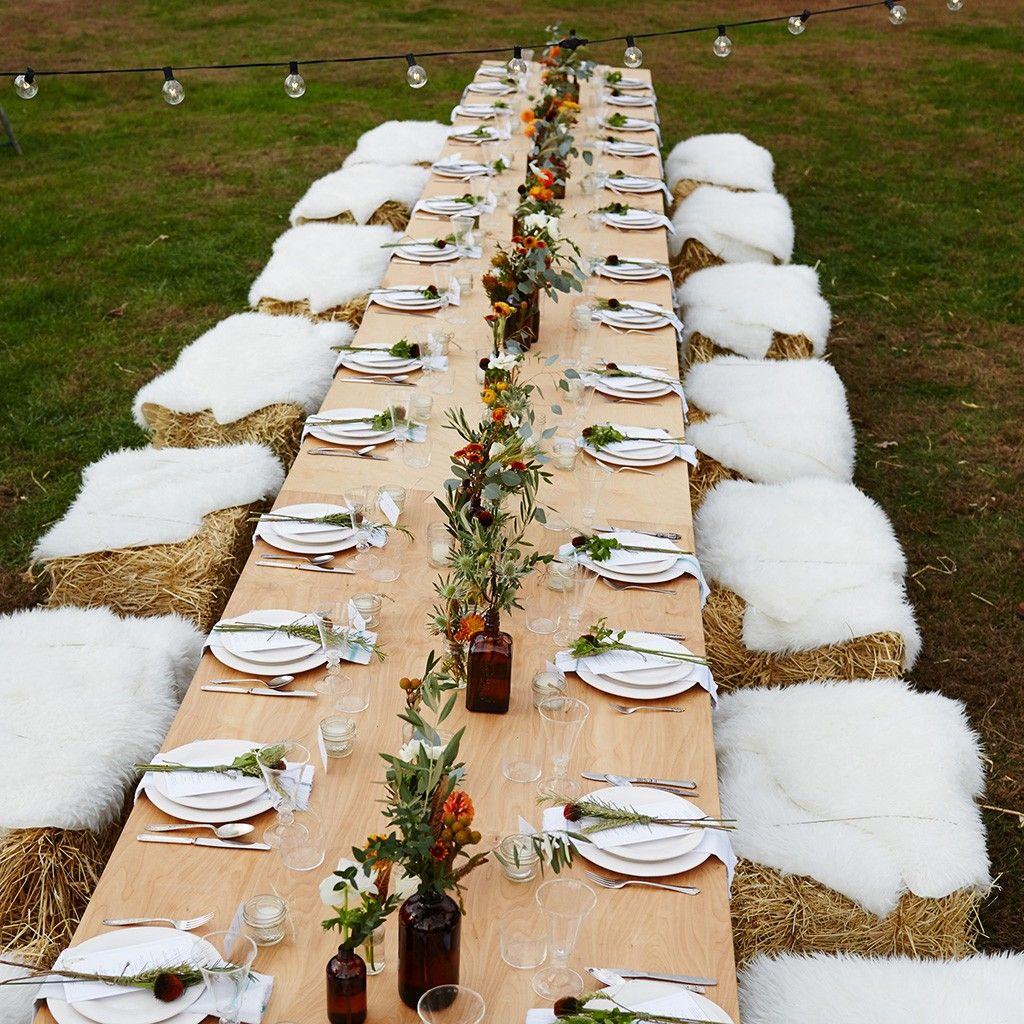 How to throw the perfect fall party hay bale seating for Bales of hay for decoration