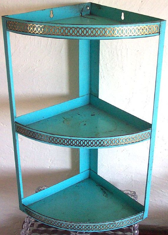 Retro Corner Metal 3 Tier Lace Shelf Metal Shelves Retro Shelves