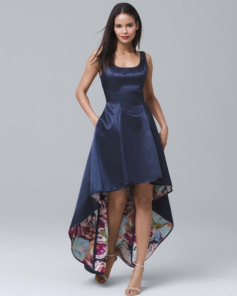 Women s Nicole Miller New York Sleeveless Satin High-Low Dress by White  House Black Market aa65f52e53