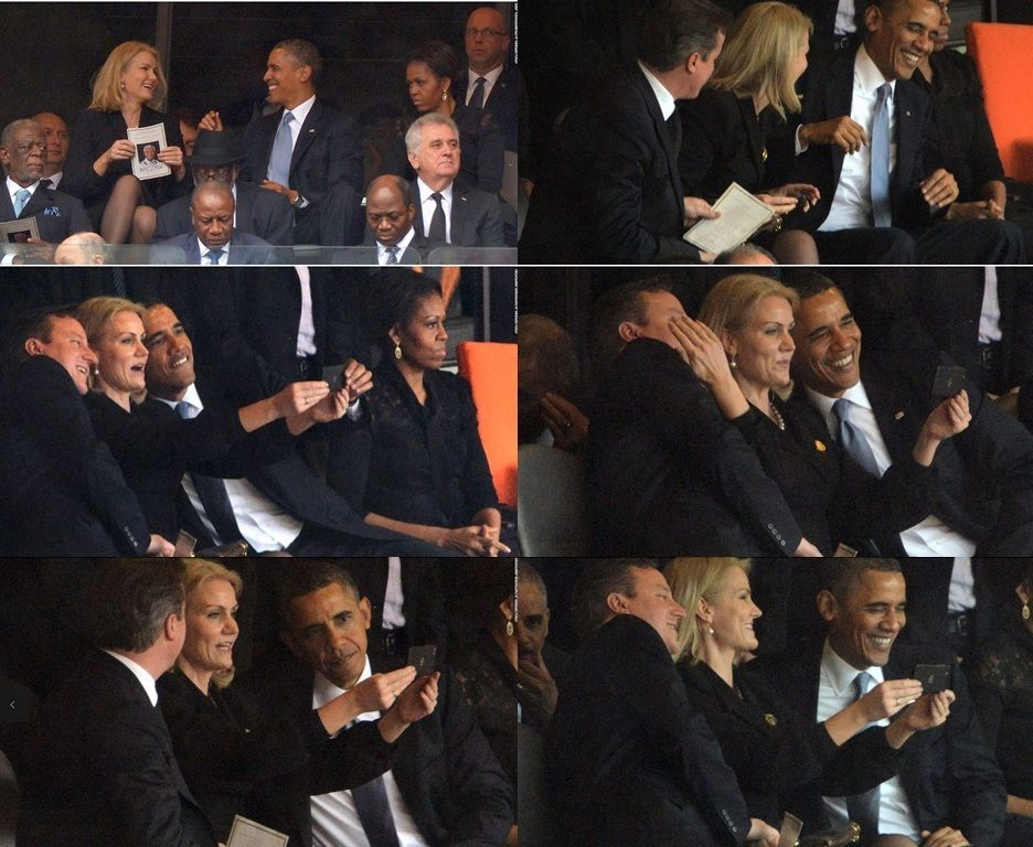 Is ObamaSelfie at Mandela's Memorial Service Unfit