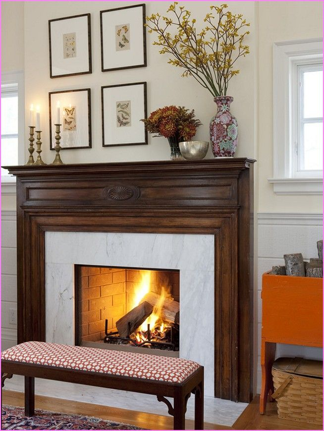 Fireplace Mantel fireplace mantel decor ideas : Everyday Fireplace Mantel Decorating Ideas | Home Design Ideas ...