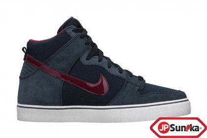 sports shoes d1b8a ec24d Nike Dunk High LR Dark Obsidian Team Red (487924-461)