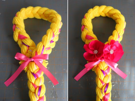 A Thousand Phases Rapunzel Hair Tutorial Disney Gifts Diy Rapunzel Hair Handmade Gifts Diy