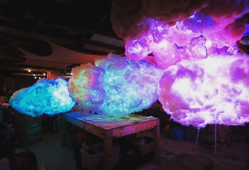 L.E.D Cloud Lamp Diy clouds decorations, Diy clouds