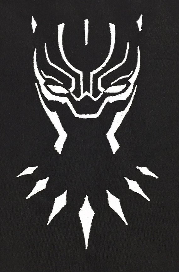 Black Panther Outline Avenger Embroidery Design This Is Not A Etsy Black Panther Painted Pumpkins Panther