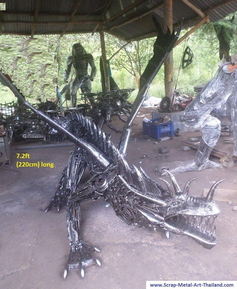 Metal Artwork For Sale Dragon Statue Life Size Scrap Metal Art For Sale  Dragons